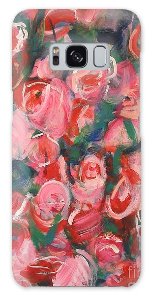 Roses Galaxy Case by Fereshteh Stoecklein