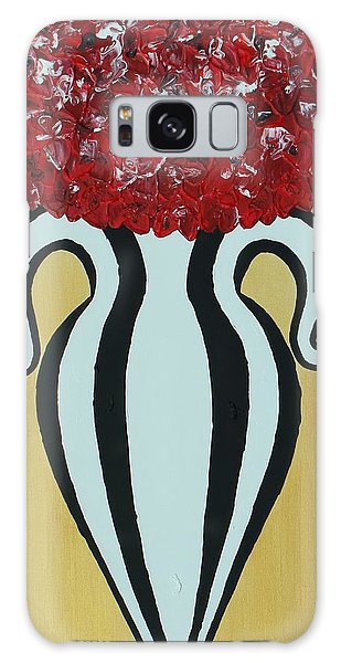 Galaxy Case featuring the painting Roses For Her Curves by Aliya Michelle