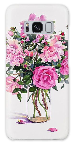 Petal Galaxy Case - Roses In A Glass Jar  by Christopher Ryland
