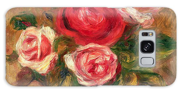 Blossoms Galaxy Case - Roses In A Pot by Pierre Auguste Renoir