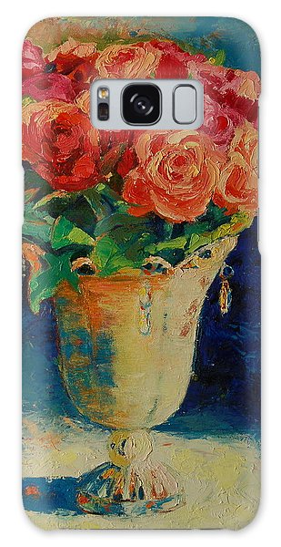 Roses In Wire Vase Galaxy Case