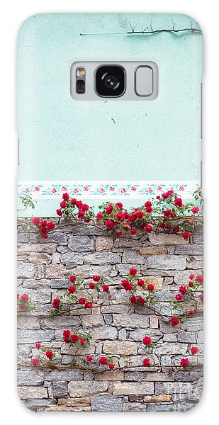 Roses On A Wall Galaxy Case