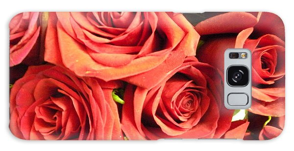 Roses On Your Wall Galaxy Case