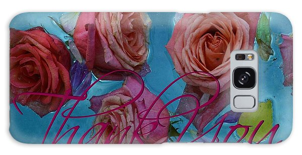 Roses Thank You  For Card Galaxy Case