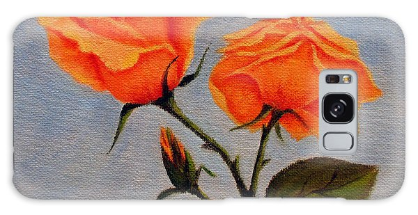 Roses With Bud Galaxy Case by Roseann Gilmore