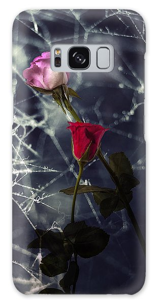 Roses With Coweb Galaxy Case