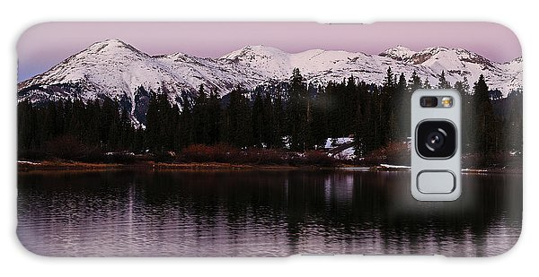 Rosey Lake Reflections Galaxy Case