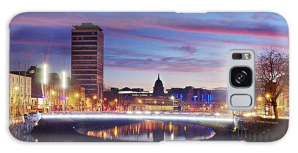 Galaxy Case featuring the photograph Rosie Hackett Bridge - Dublin by Barry O Carroll