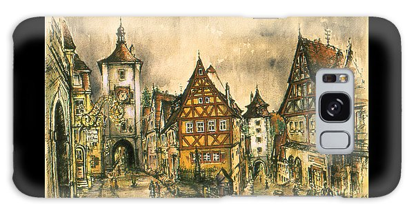 Rothenburg Bavaria Germany - Romantic Watercolor Galaxy Case