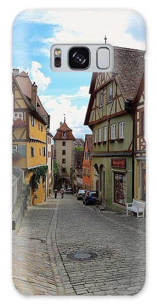 Rothenburg Ob Der Tauber Galaxy Case by Corinne Rhode