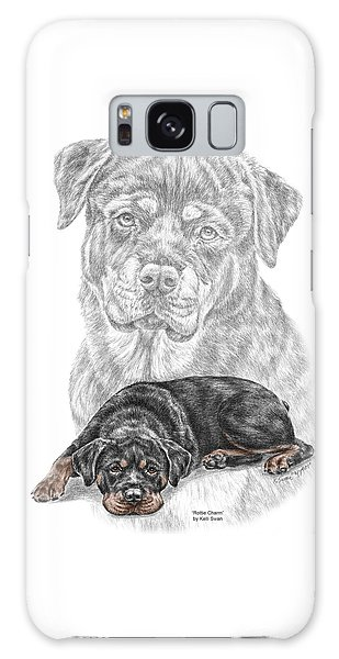 Rottie Charm - Rottweiler Dog Print With Color Galaxy Case