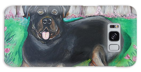 Rottweiler Galaxy Case by Leslie Manley