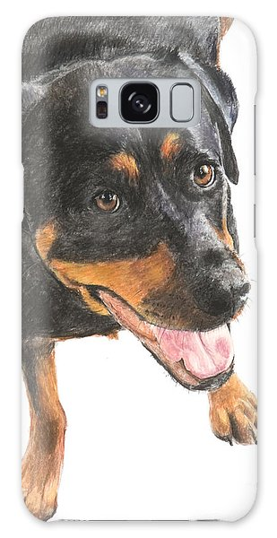 Rottweiler Looking Up Galaxy Case