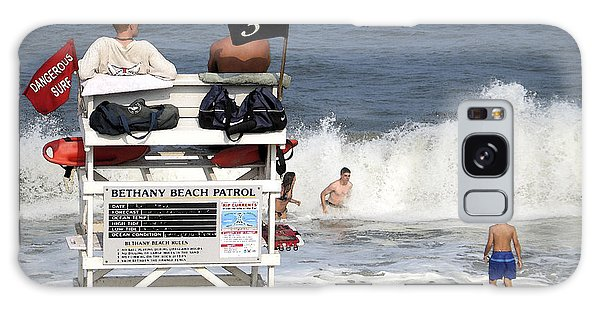Rough Water At Bethany Beach In Delaware  Galaxy Case