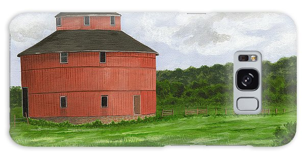 Round Barn Galaxy Case