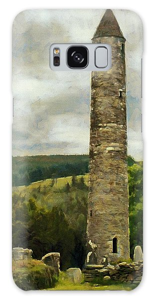 Round Tower At Glendalough Galaxy Case by Jeff Kolker