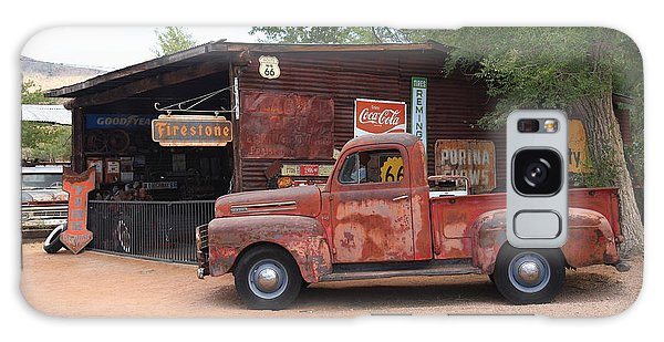 Route 66 Garage And Pickup Galaxy Case by Frank Romeo