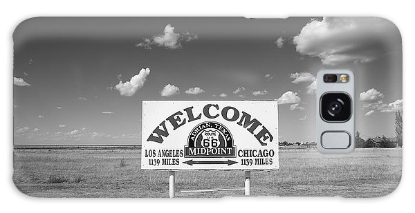 Route 66 - Midpoint Sign Galaxy Case by Frank Romeo