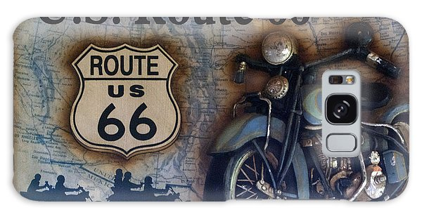 66 Galaxy Case - Route 66 Odell Il Gas Station Motorcycle Signage by Thomas Woolworth