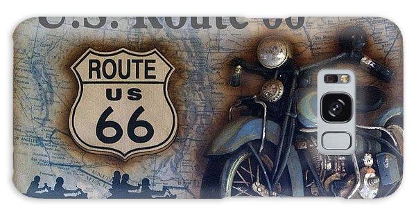 Route 66 Odell Il Gas Station Motorcycle Signage Galaxy Case by Thomas Woolworth