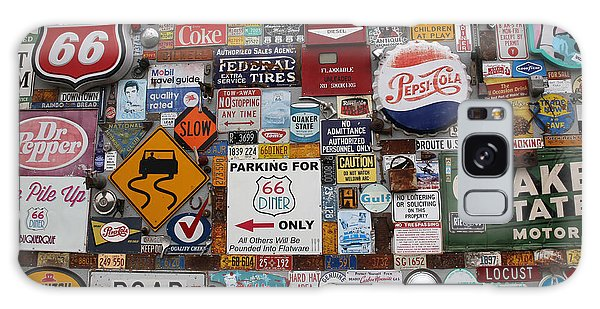 Route 66 Signs Galaxy Case by Lynn Sprowl
