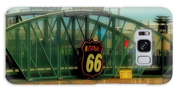 Route 66 Polaroid - Large Format - No Transfer Border Galaxy Case