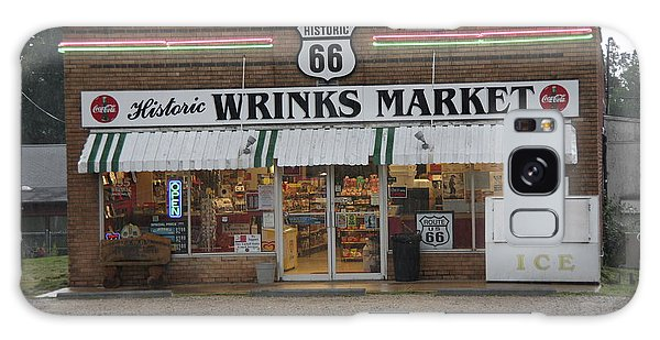 Route 66 - Wrink's Market Galaxy Case by Frank Romeo
