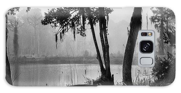 Row Boat On A Foggy Morn Galaxy Case by Sandra Anderson