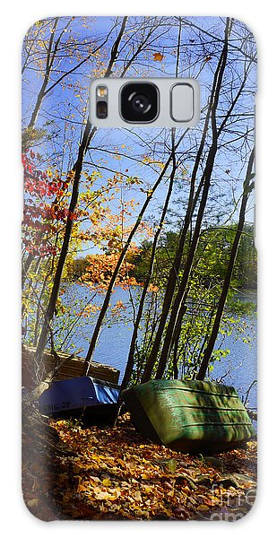 Row Boats Along Croton Reservoir - Ny Galaxy Case