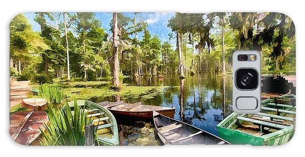 Row Boats In Cypress Tree Swamp II Galaxy Case