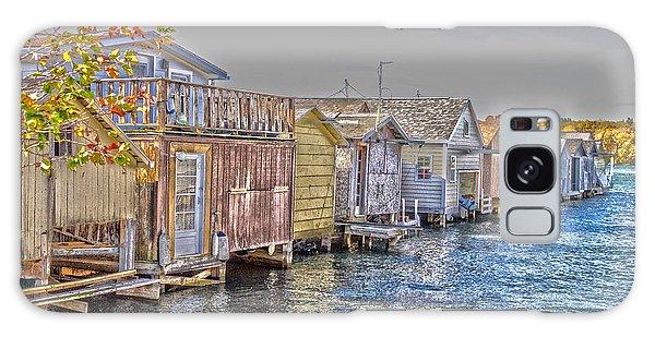Row Of Boathouses Galaxy Case