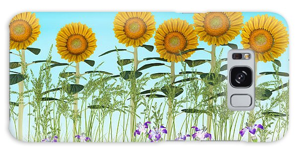 Row Of Sunflowers Galaxy Case