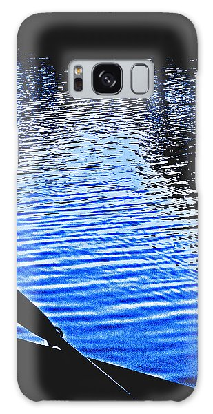 Rowboat At Sunset Galaxy Case