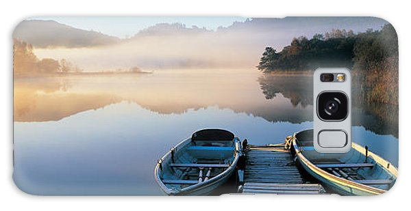 Grasmere Galaxy Case - Rowboats At The Lakeside, English Lake by Panoramic Images