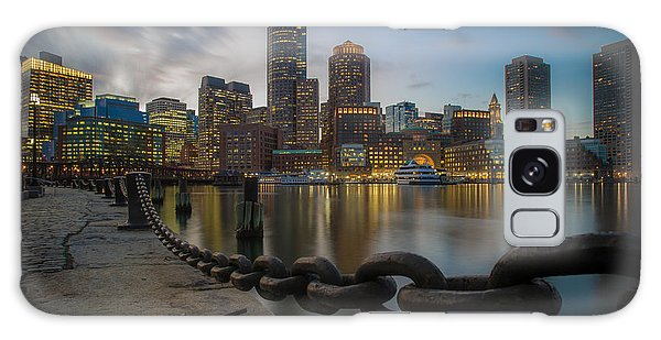 Rowes Wharf In January Galaxy Case