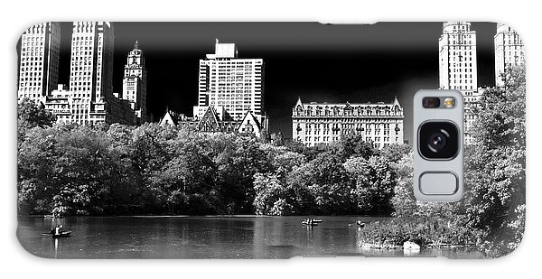Rowing In Central Park Galaxy Case by John Rizzuto
