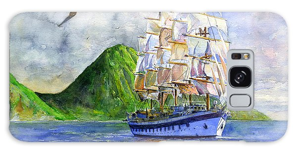 Royal Clipper Leaving St. Lucia Galaxy Case