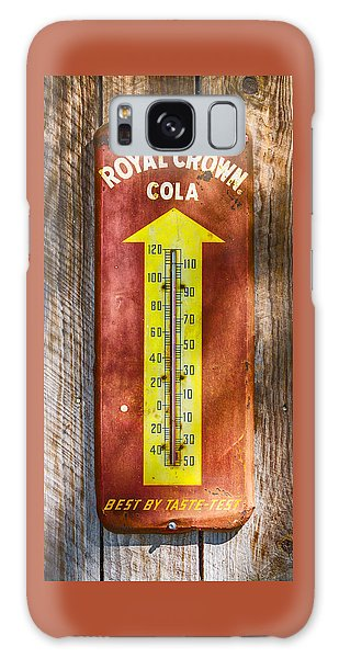 Galaxy Case featuring the photograph Royal Crown Barn Thermometer by Carolyn Marshall