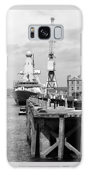 Royal Navy Docks And Hms Defender Galaxy Case