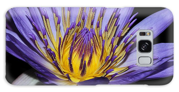 Royal Purple Water Lily #5 Galaxy Case by Judy Whitton