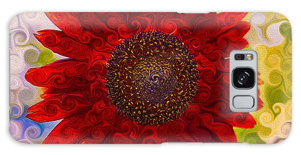 Royal Red Sunflower Galaxy Case