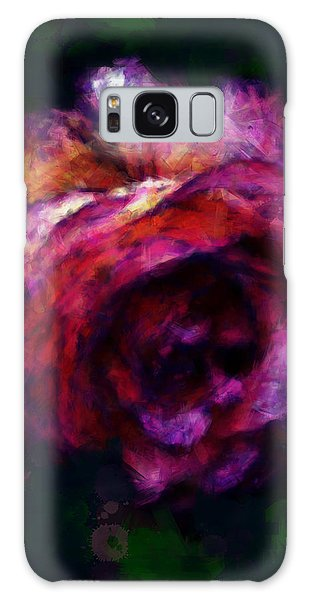 Royal Rose Painted Galaxy Case
