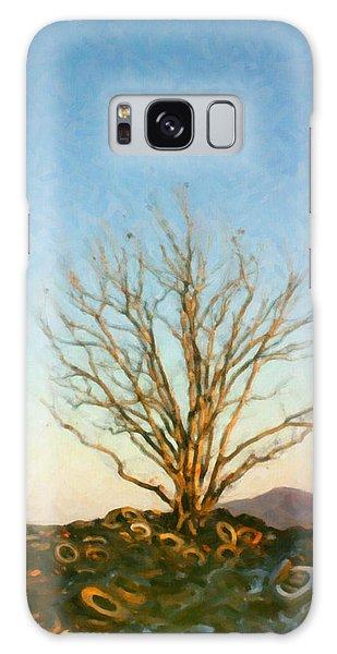 Rubber Tree Galaxy Case by Spyder Webb