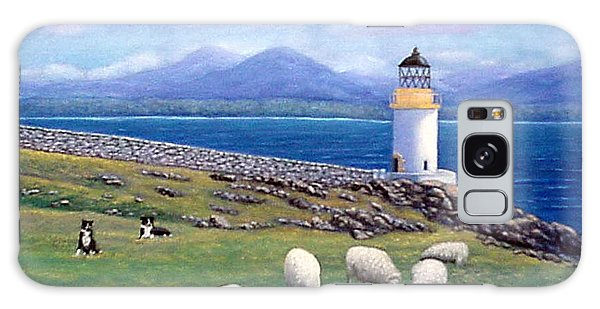 Rubh An Duin Lighthouse Scotland Galaxy Case