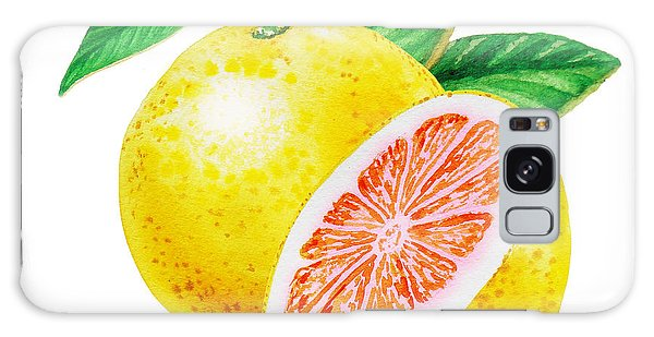 Ruby Red Grapefruit Galaxy Case by Irina Sztukowski