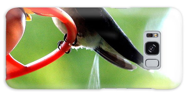 Galaxy Case featuring the photograph Ruby-throated Hummingbird Pooping by Rose Santuci-Sofranko