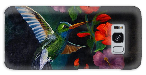 Rubythroated Humming Bird And Hibiscus Galaxy Case