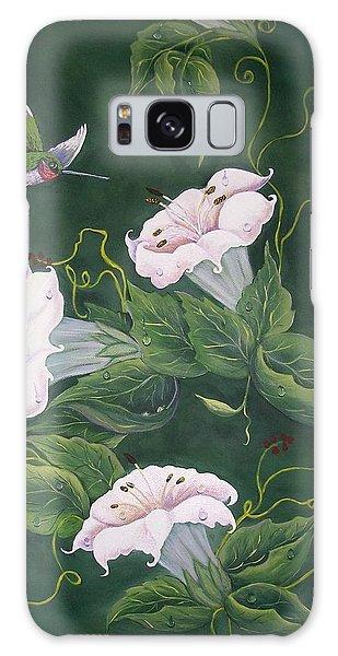 Hummingbird And Lilies Galaxy Case