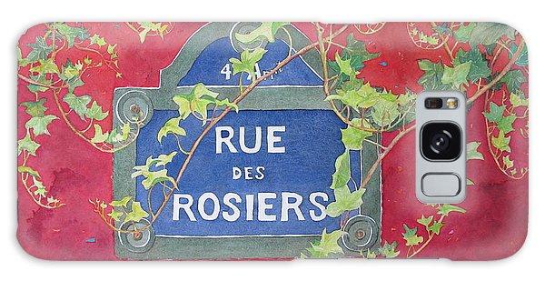 Rue Des Rosiers In Paris Galaxy Case by Mary Ellen Mueller Legault