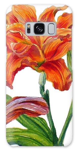 Ruffled Orange Daylily - Hemerocallis Galaxy Case